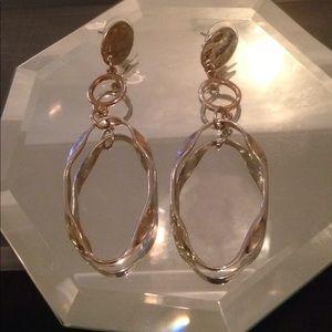 Chico's Sleek Silver-tone drop earrings